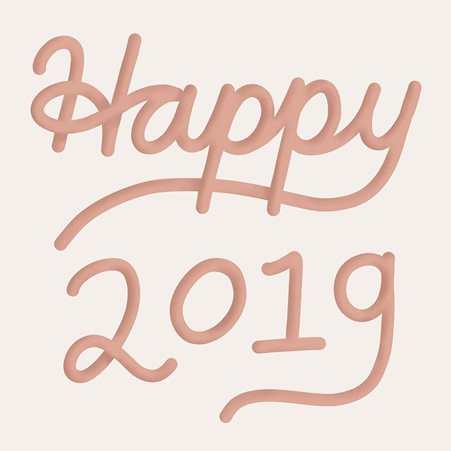 Wishing you lovely followers all the best in 2019! I'm a little behind, but this year's had a busy start. This week I learned to shade lettering in Procreate for a 3D effect. It's the little things, people. 🙌🏼