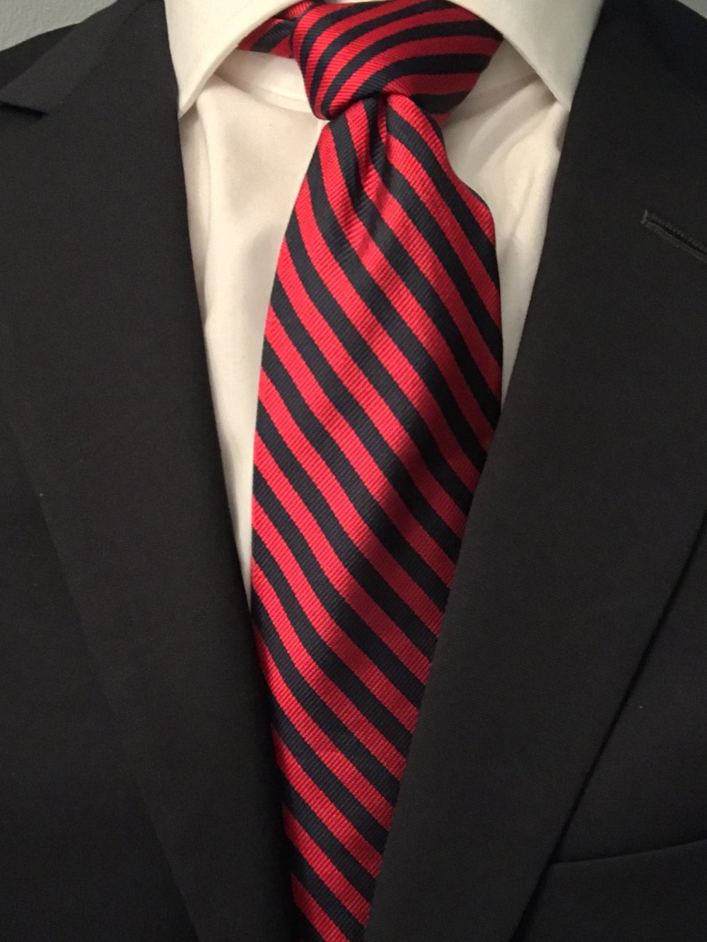 Brooks Brothers BB#5 Repp Tie, Red and Navy