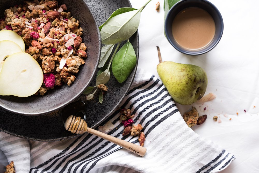 Artisanal Granola   Features: Gluten-free / Vegan / Plantiful  Chocolate Coconut / Gingerbread / Lavender / Chai