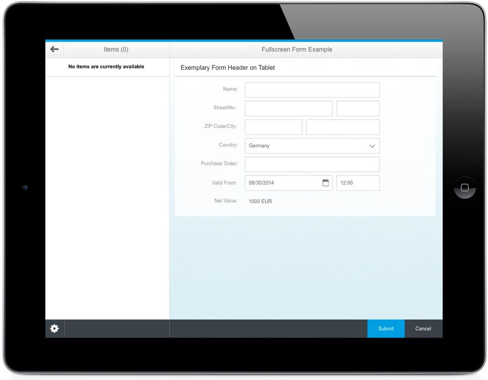 SAP Fiori Form