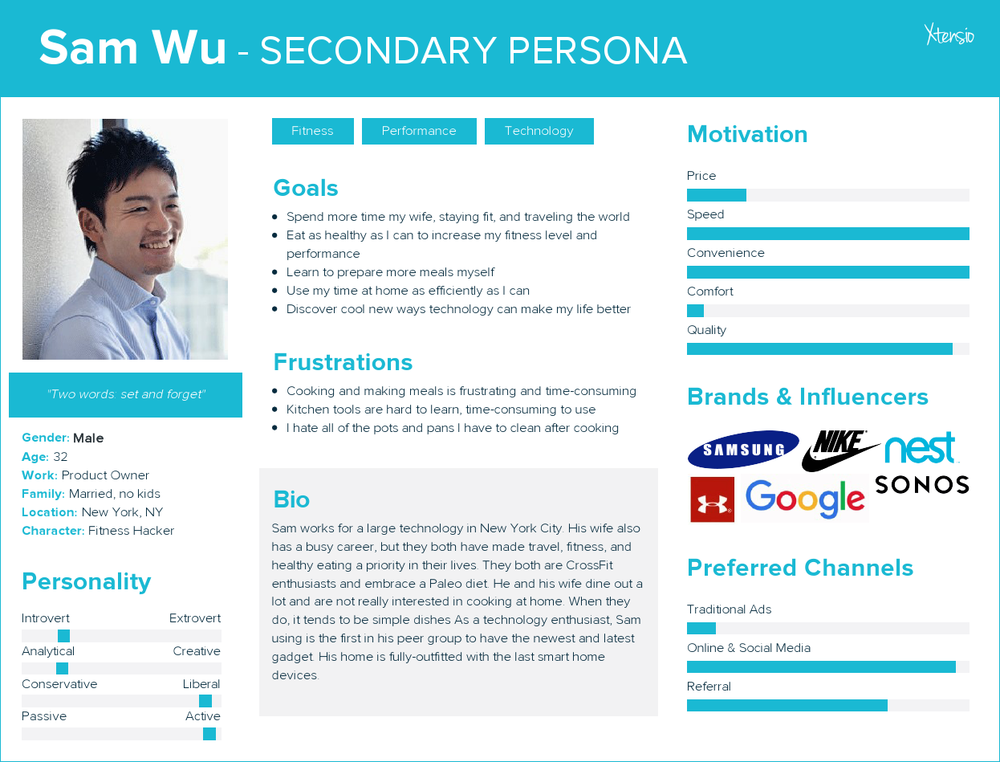 Our Secondary Persona: Sam Wu