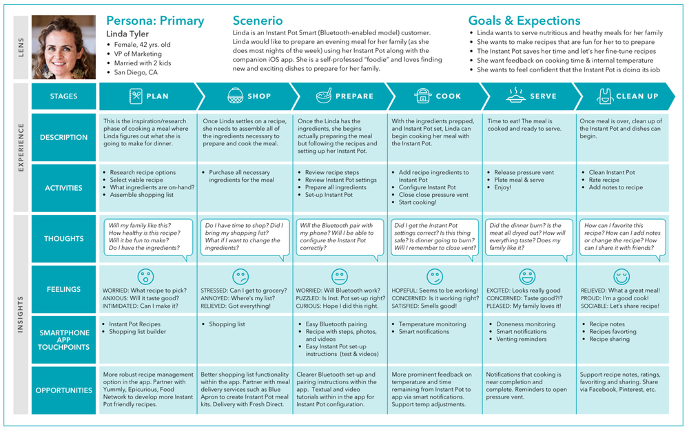 The Customer Journey Map for Our Primary Persona