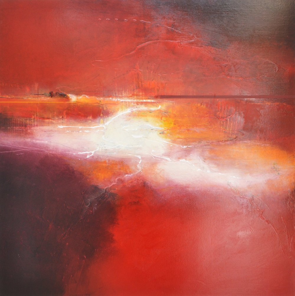 Red Rapids  Bee Doughty-Pratt, oil on canvas, 1000mm x 1000mm  $3250.00
