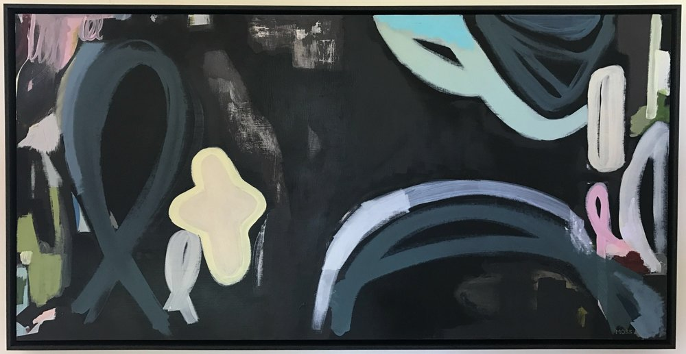 The Precious Things  Deborah Moss, acrylic on board, black shadowboxed, 635mm x 1230mm  sold