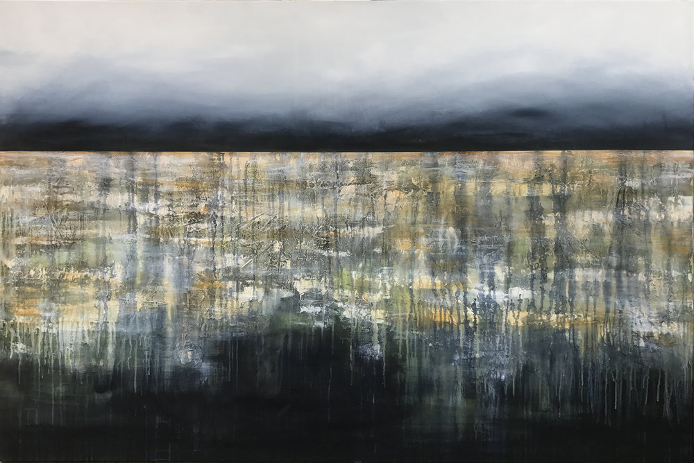 After the Rains  Judy Wood, acrylic on canvas, 1520mm x 1010mm  $3,200.00