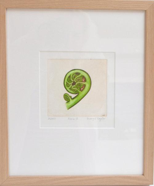 Koru  Mary Taylor, framed print, 310mm x 380mm  $210.00