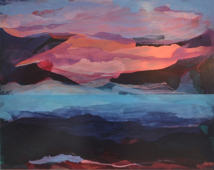 Dusk  Megan Daniels, oil on canvas, 1520mm x 1220mm  $3,500.00