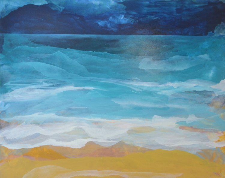 Shoreline  Megan Daniels, oil on canvas, 1520mm x 1220mm  $3,500.00