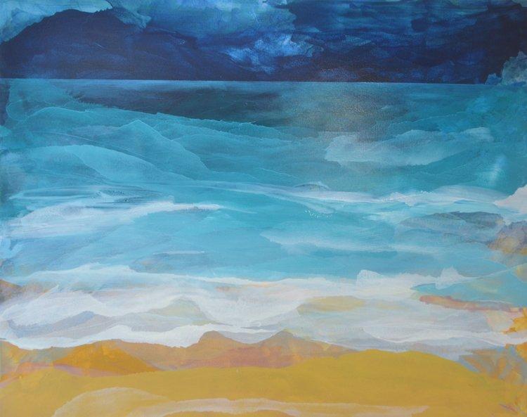 Shoreline  Megan Daniels, oil on canvas, 1520mm x 1220mm  $3,500.00