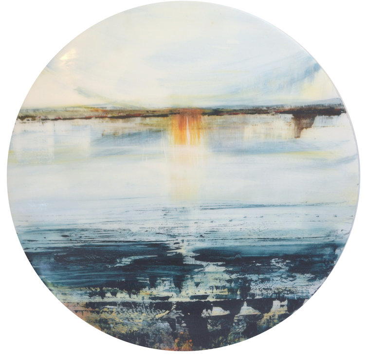 Thanks to Turner  Ron Hall, acrylic on aluminium, 590mm diameter  sold