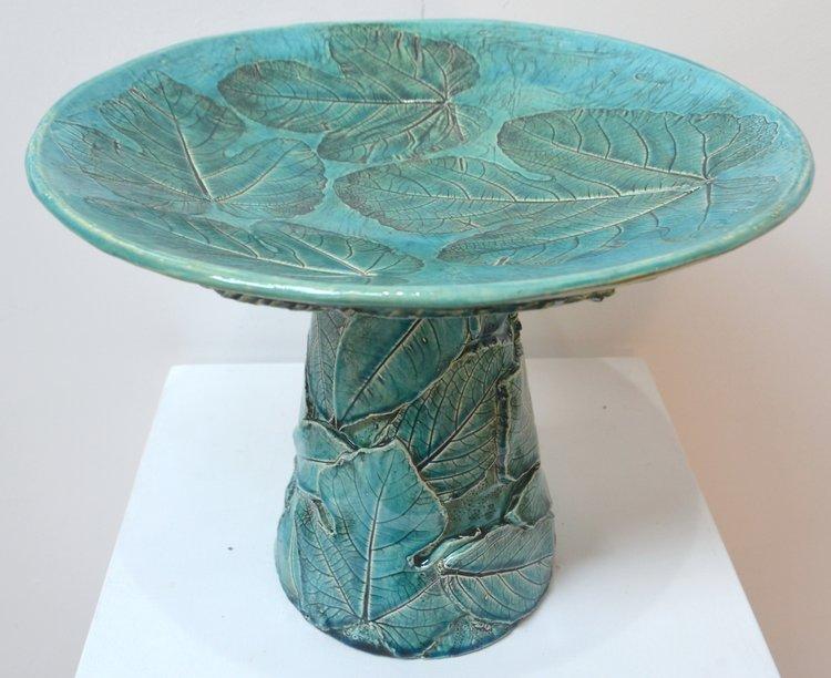 Small Bird Bath  Jocelyn Adolph, fired & glazed ceramic  $360.00