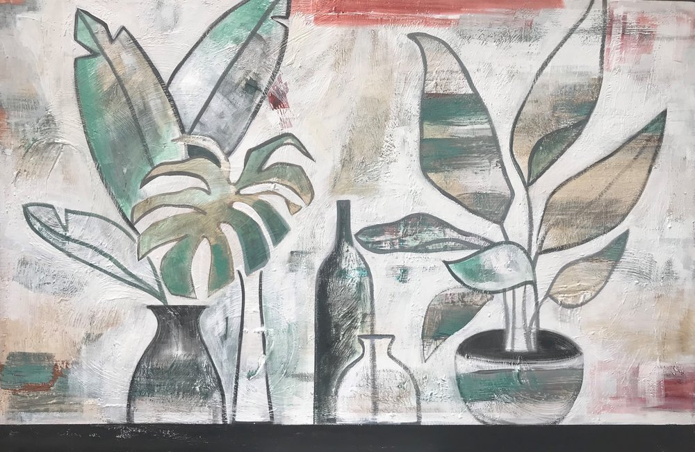 Another Day In Paradise  Jane Pierce, acrylic on canvas, 1510mm x 1010mm  $2,995.00