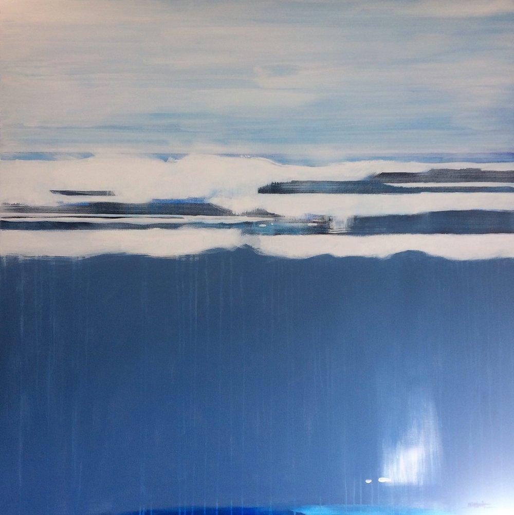 Grey Calm  Bill Harris, acrylic on canvas, 1215mm x 1215mm  $3,500.00