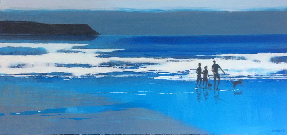 Beach Patrol  Bill Harris, acrylic on canvas, 1215mm x 610mm  $2,500.00