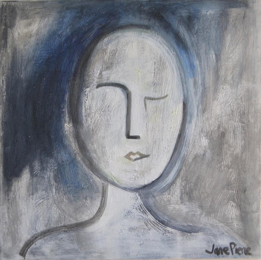 Joy  Jane Pierce, acrylic on canvas, 1000mm x 1000mm  $2,100.00