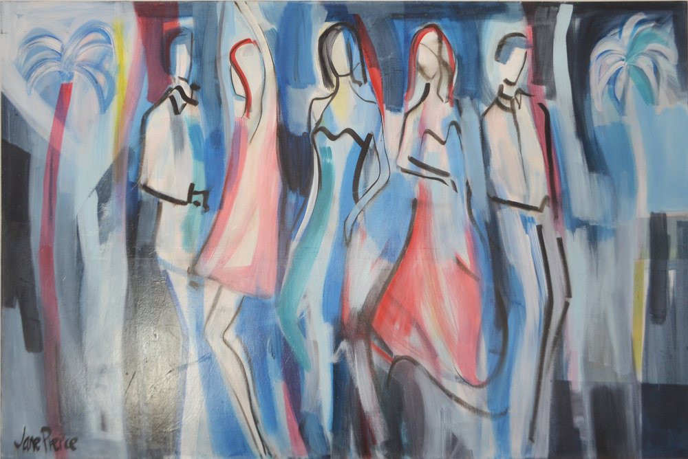 Dancing In The Moonlight  Jane Pierce, acrylic on canvas, 1520mm x 1015mm  $3,200.00