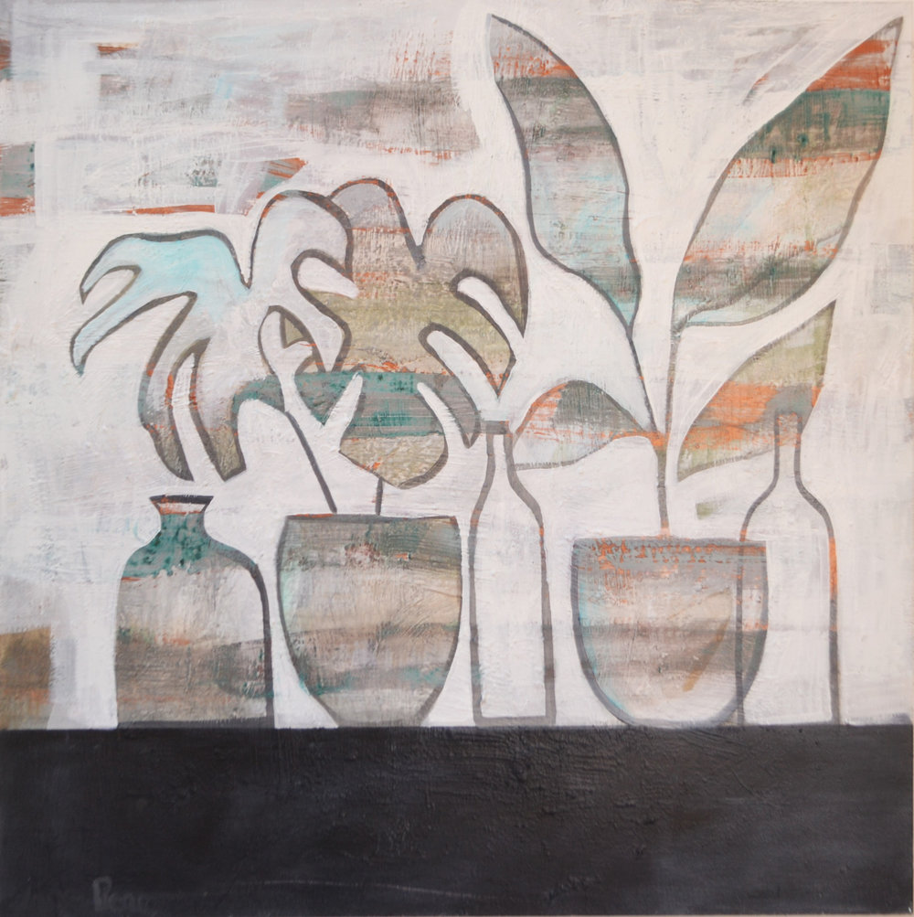Paradiso  Jane Pierce, acrylic on canvas, 1015mm x 1015mm  $2,100.00
