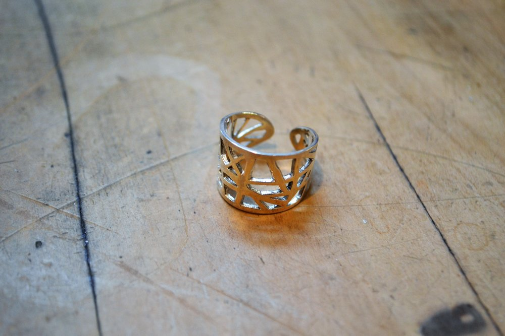 Line Craze Ring  Contemporary Collection #45, 925 sterling silver, adjustable size small  $150.00