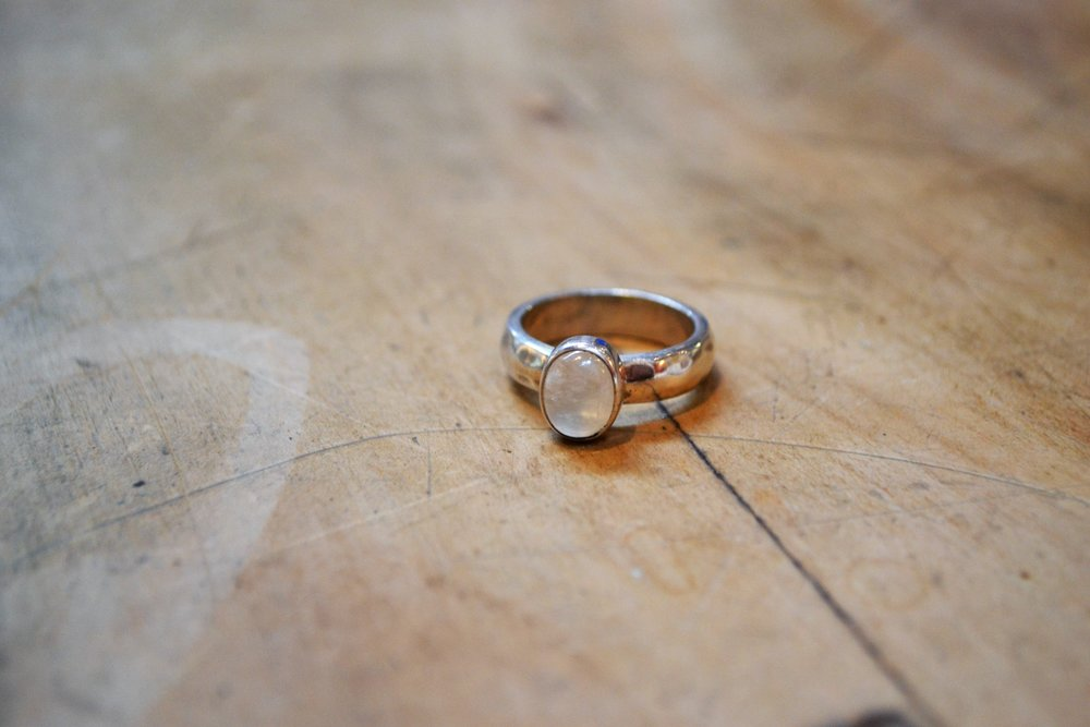 Moonstone Ring  Old World Collection, Moonstone and 925 sterling silver, size small  $70.00