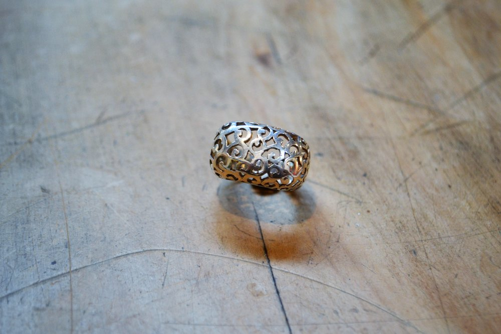 Lace Ring  Old World Collection, 925 sterling silver, size large  $200.00
