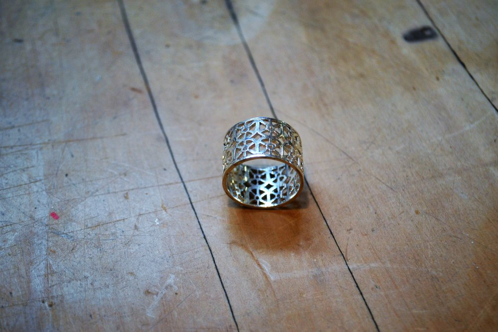 Filagree No.1 Ring  Contempory Collection #47, 925 sterling silver, size m/l  $180.00