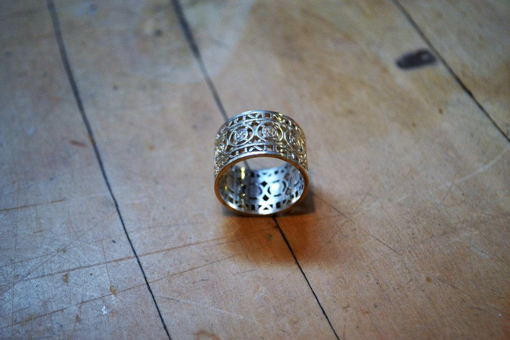 Filagree No. 2 Ring  Contempory Collection #48, 925 sterling silver, size m/l  $180.00