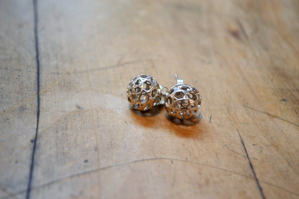 Skeletal Stud  Contempory Collection #54, 925 sterling silver  $100.00