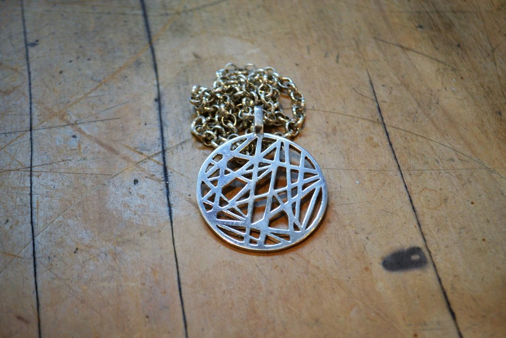 Line Craze Pendant  Contemporary Collection #46, 925 sterling silver  $240.00