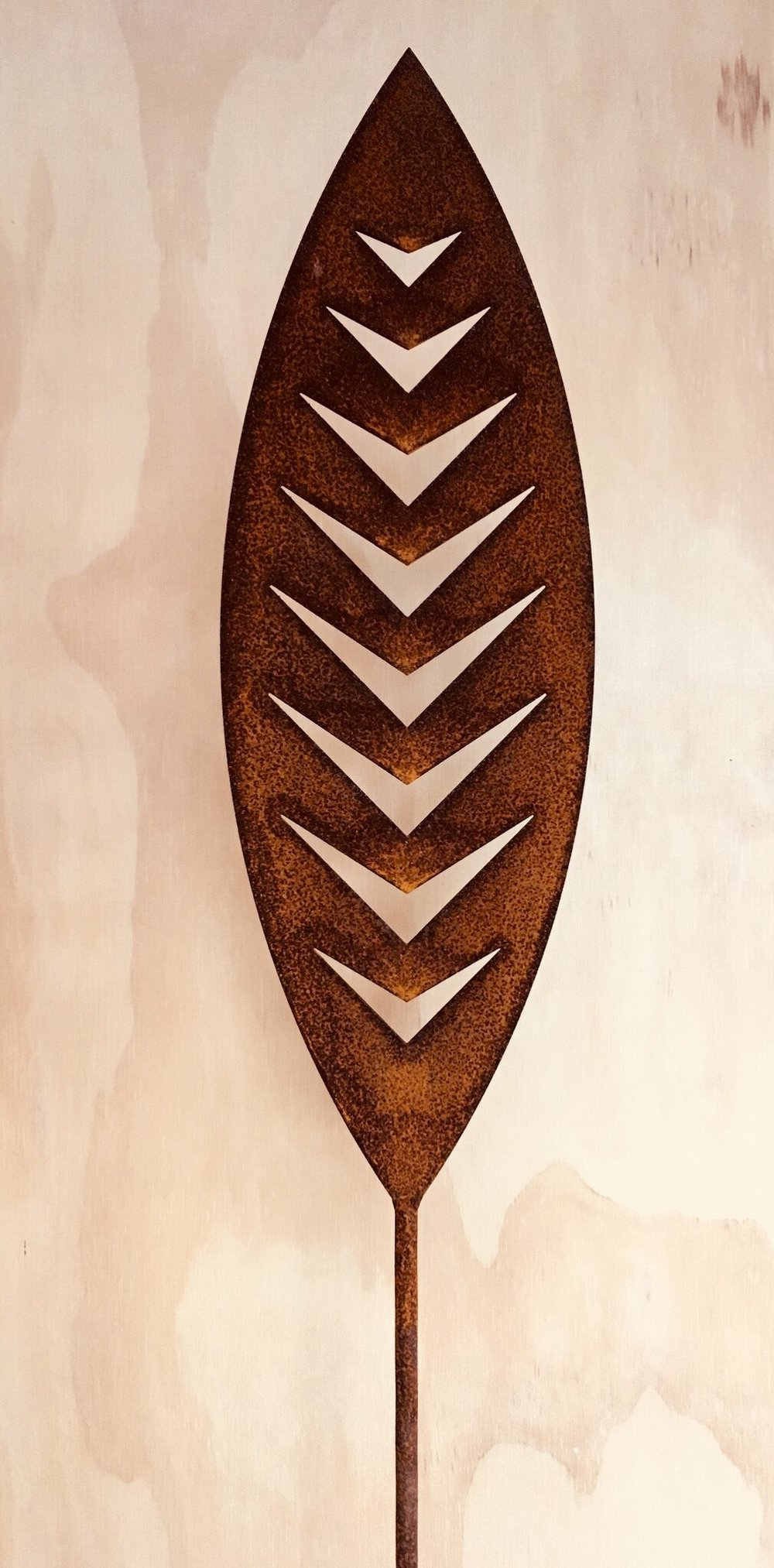 'A Rusty Affair' Corten Arrow  Grounded Art NZ ,  1650mm tall (400mm spear head on a 1250mm rod)  $95.00