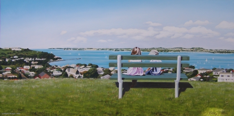 Sail Away  Cindy Hutton, oil on canvas, 1100mm x 510mm  sold