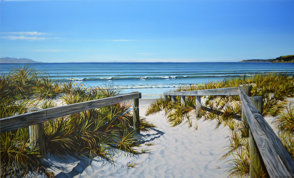 Coastal Walkway  Shirley Cresswell, limited edition print on canvas, 1000mm x 625mm  $780.00