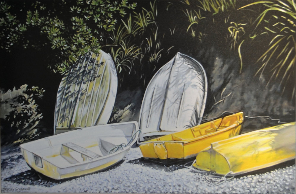 Leigh Dinghies  Shirley Cresswell, limited edition print on canvas 650mm x 430mm  $440.00