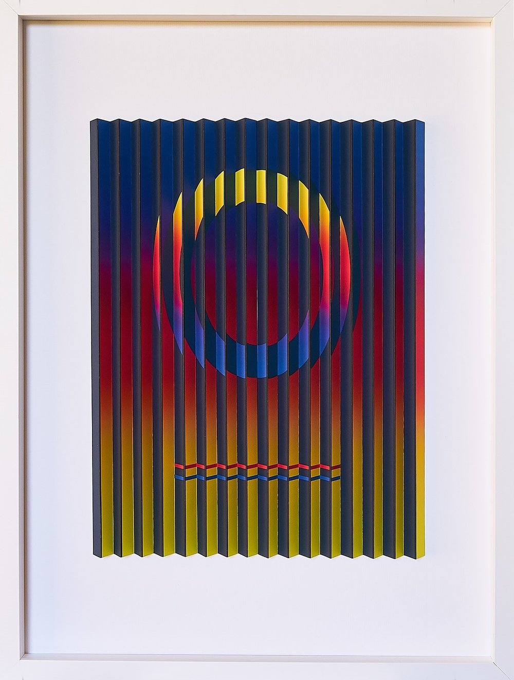 Rainbow Circle  Mark Cowden, limited edition multiplane, #8/10, 490mm x 640mm inc. frame  sold