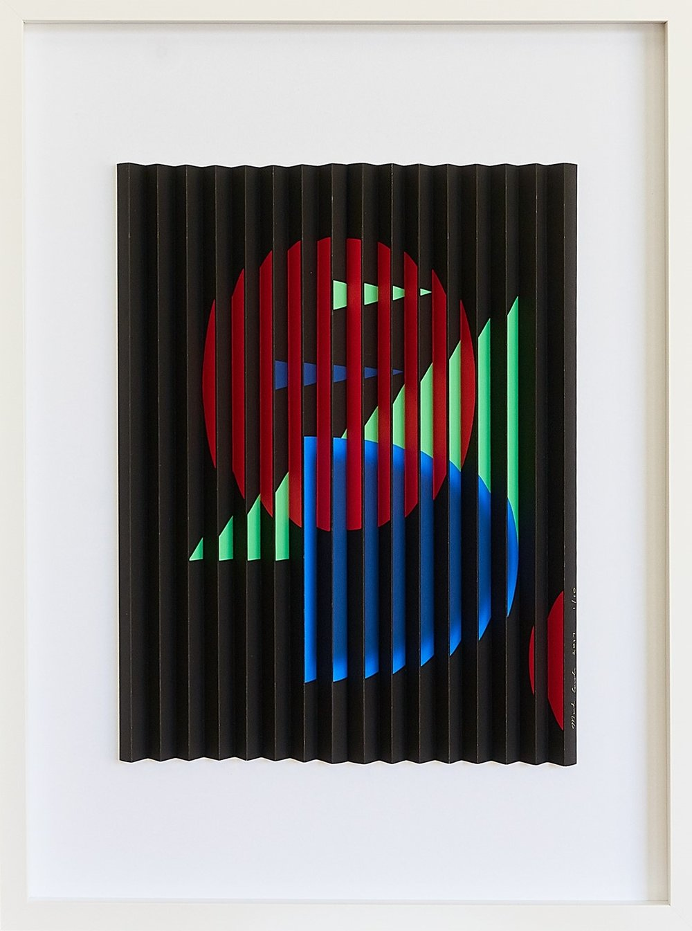 Red Circle  Mark Cowden, limited edition multiplane, #5/10, 490mm x 640mm inc. frame  sold