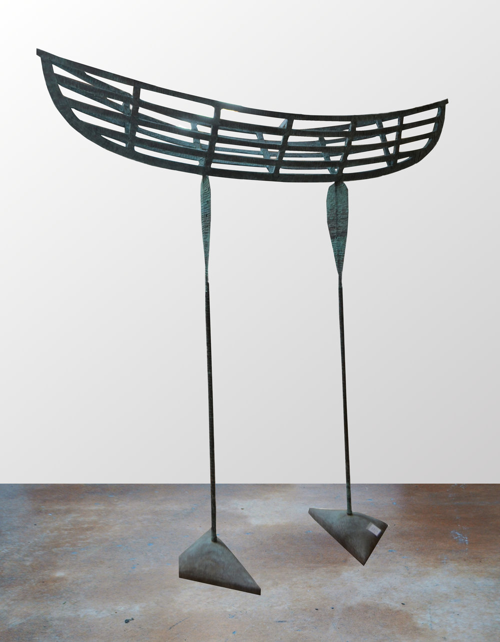 A Vessel Bound  Rudy van der Pol, copper bound standing sculpture, 2260mm x 2410mm x 420mm  $7,000.00