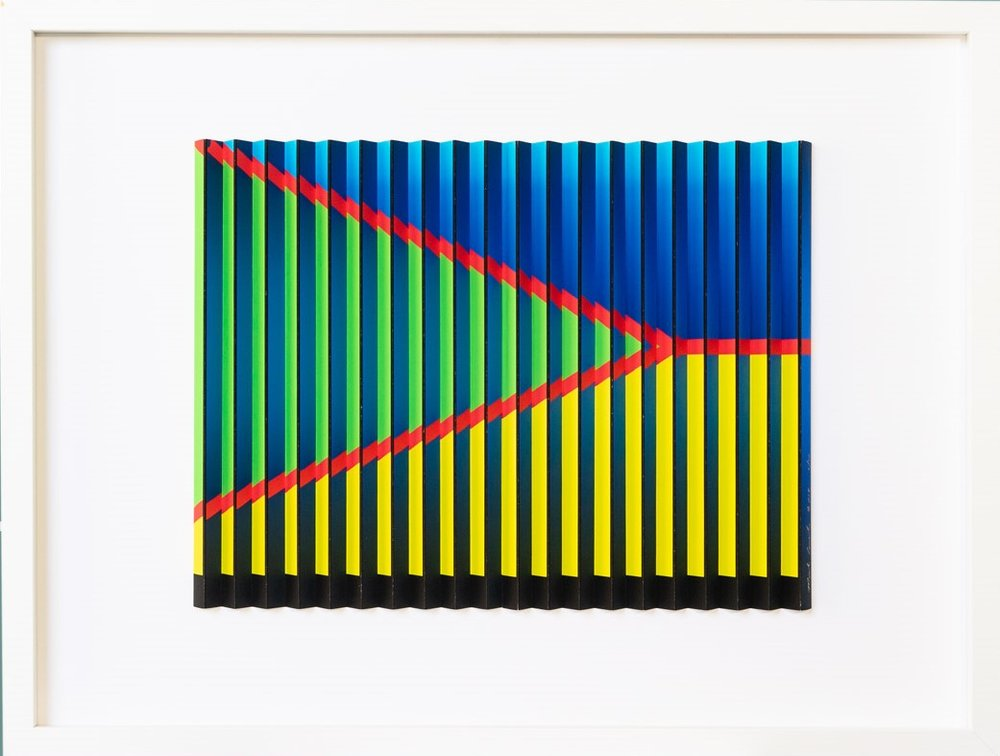 Red Stripe Series 1c (can dyptic with 1b)  Mark Cowden, limited edition multiplane, 640mm x 490mm inc. frame (gif coming soon)  sold