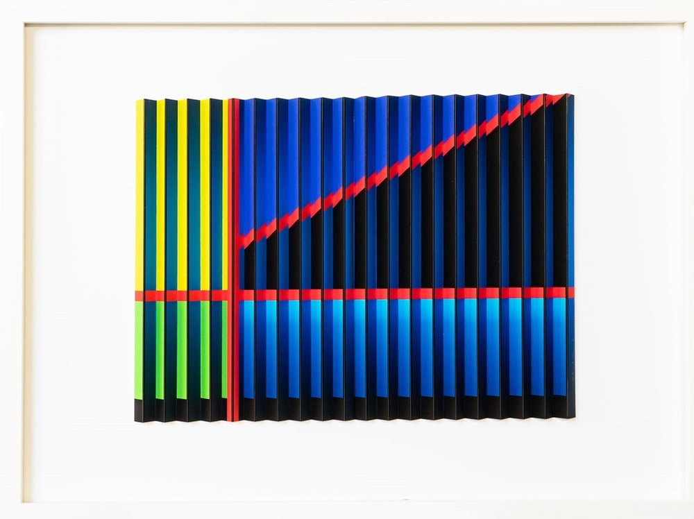 Red Stripe Series 1a  Mark Cowden, limited edition multiplane, 640mm x 490mm inc. frame   sold