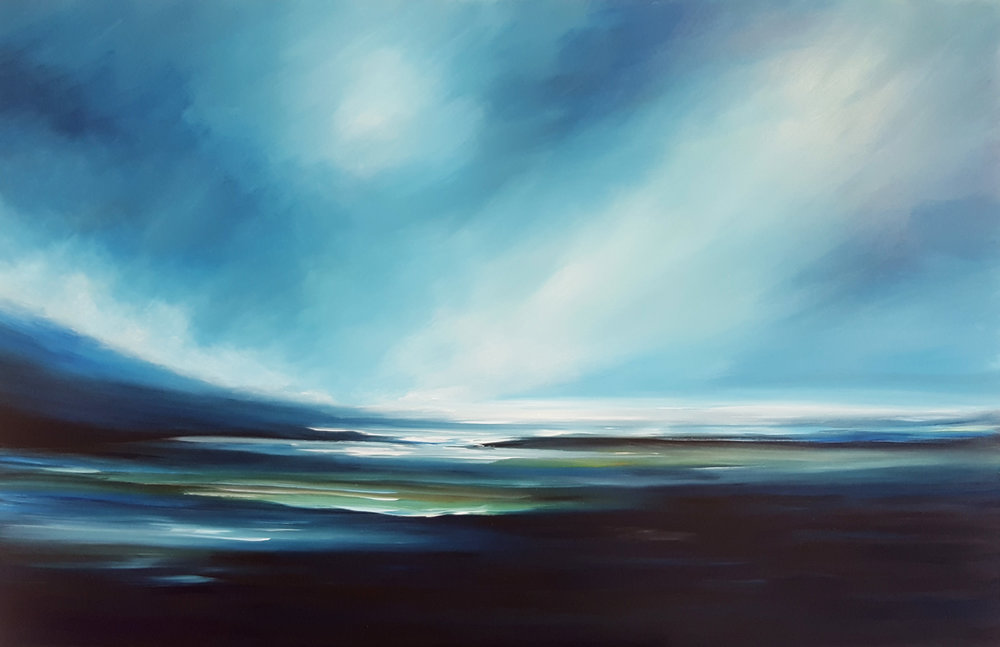 Shoreline  Tut Blumental, acrylic on canvas, 1500mm x 1000mm  $3,450.00