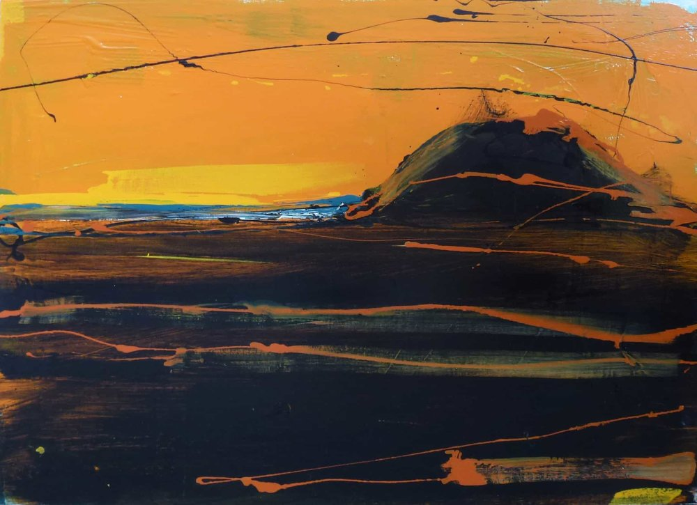 Sunset at Bethells  Christian Nicolson, acrylic on canvas, 1225mm x 915mm  $4,200.00