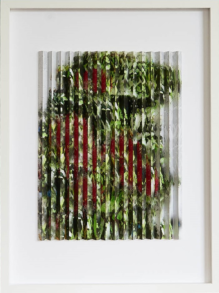 Pohutukawa I  Mark Cowden, limited edition multiplane, 490mm x 460mm inc. frame  sold