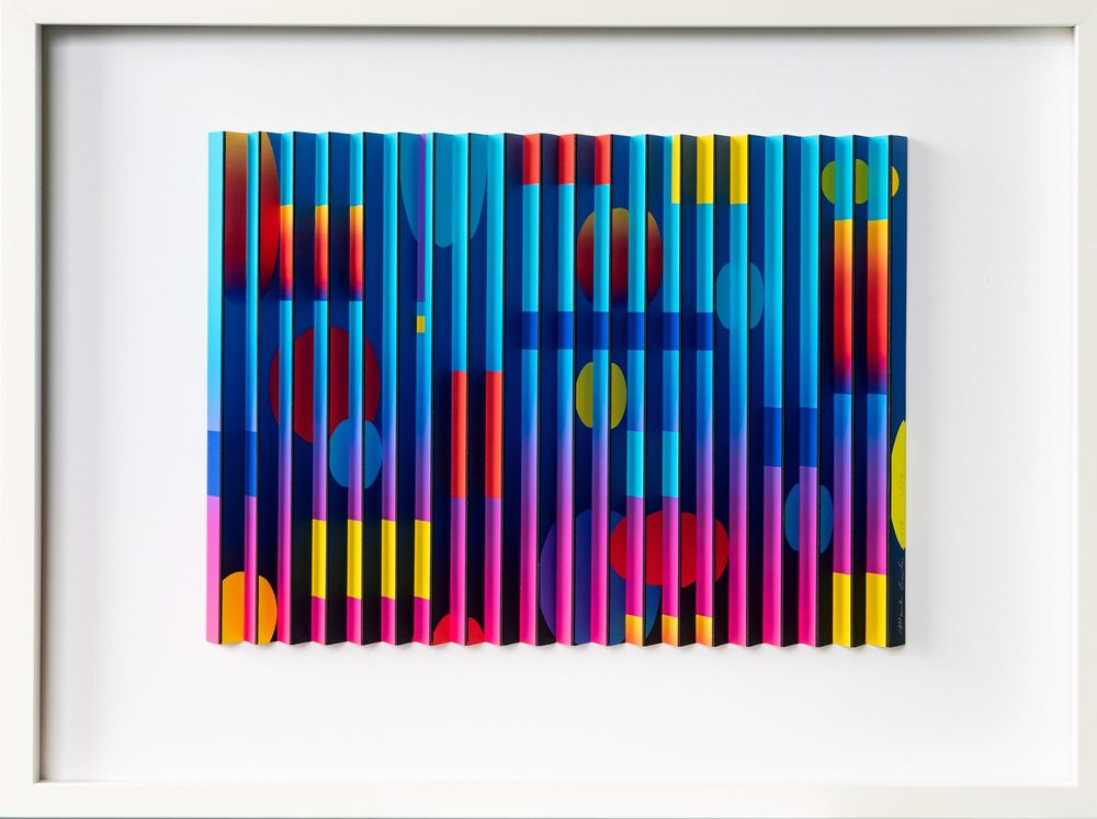 Geospace 3  Mark Cowden, limited edition multiplane work #4/10, 608mm x 456mm inc frame  $790.00
