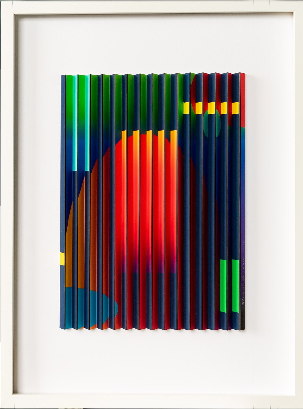 Geospace 4  Mark Cowden, limited edition multiplane work, 490mm x 640mm inc frame  sold