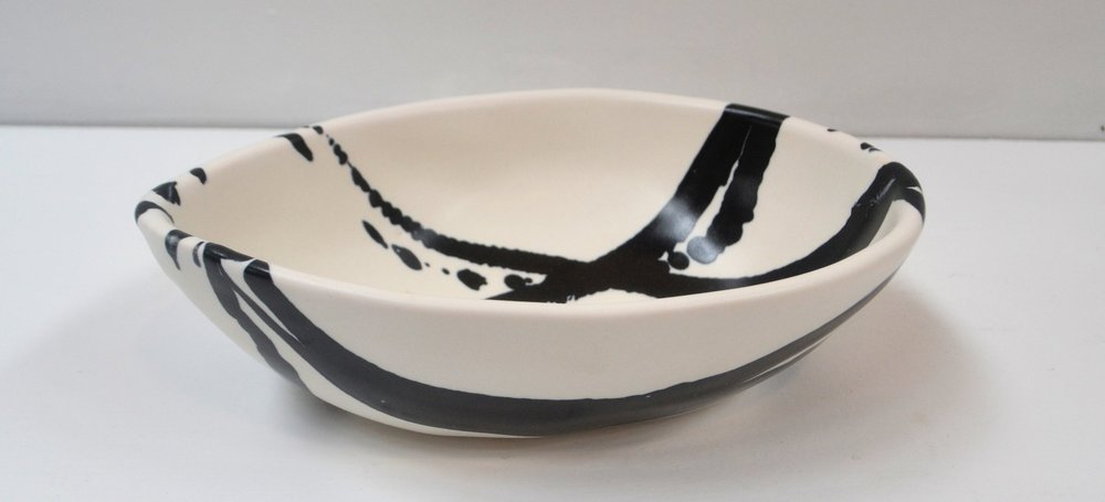 Splash Moa Egg Bowl (2)  Wilma Jennings, glazed & fired ceramic  $90.00 ea