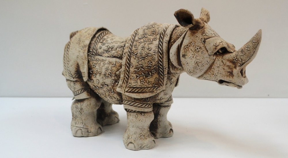 Flower Rhino -  A huge range of Fiona's pottery is now available in store, perfect gift for a loved one or yourself  - Fiona Tunnicliffe