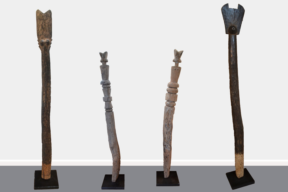 Makondo Posts I, II, III, IV  Skaaperelli Design, timber freestanding sculptures  $420.00 ea