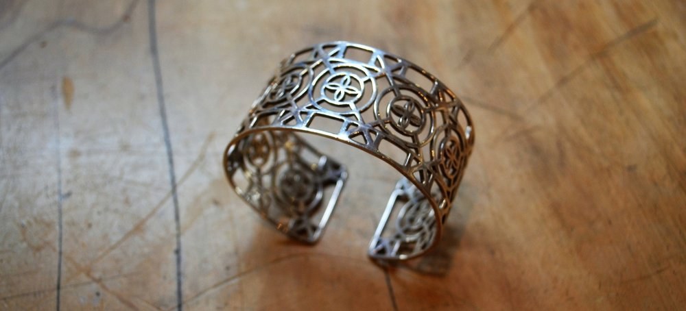 Fretwork Collection Cuff  925 Sterling Silver, adjustable  $500.00