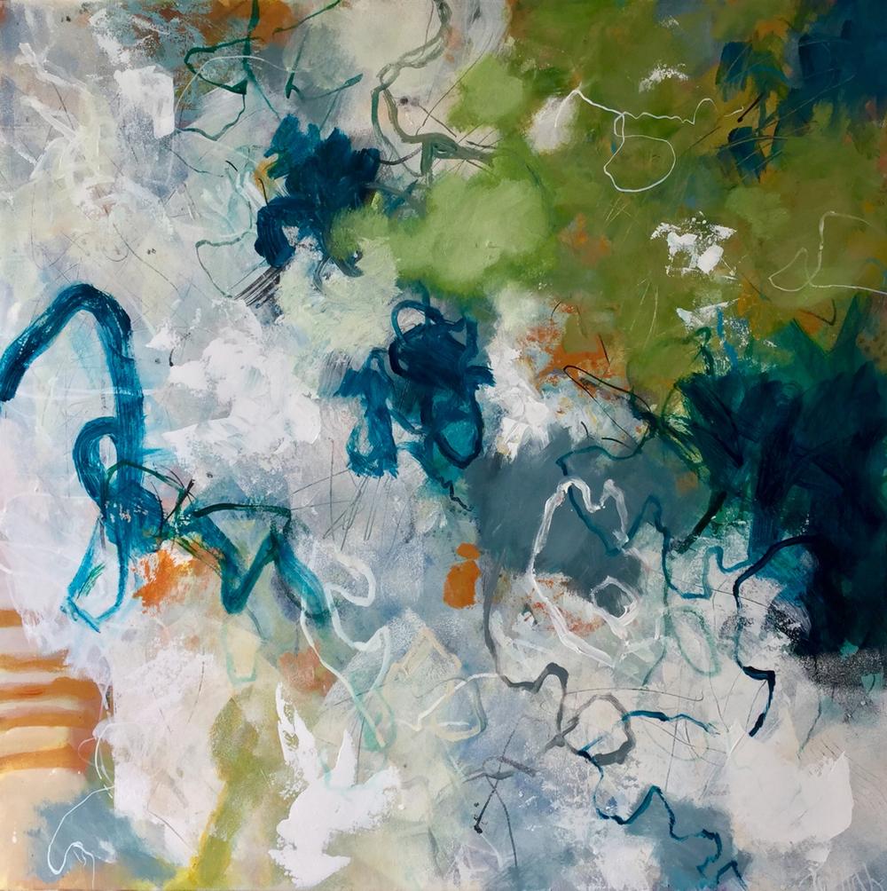 Meditation Resuscitation  Talulah Lautrec-Nunes, acrylic on canvas, 760mm x 760mm  $1,600.00