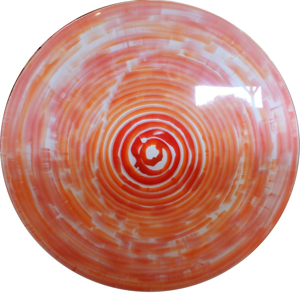 Slow Motion  Charlie McKenzie, resin and powdered metal on a fiberglass orb, 1020mm diameter  $950.00