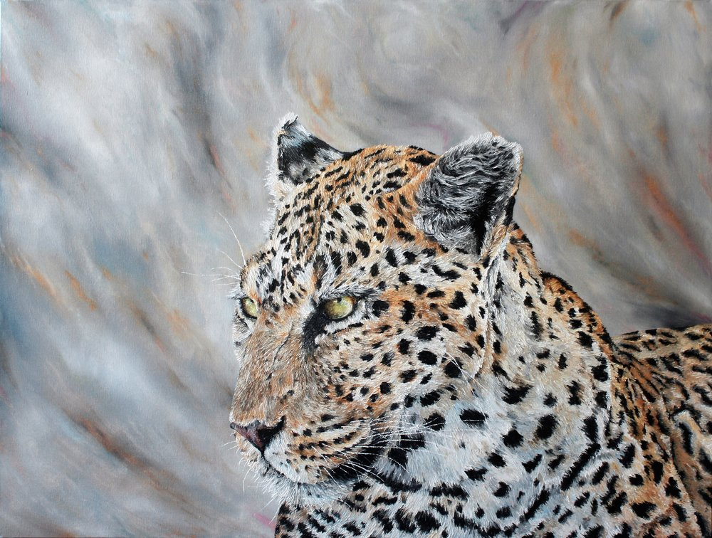 Queen of Botswana  Jake Clayton, oils on canvas, 1010mm x 760mm  $1,950.00