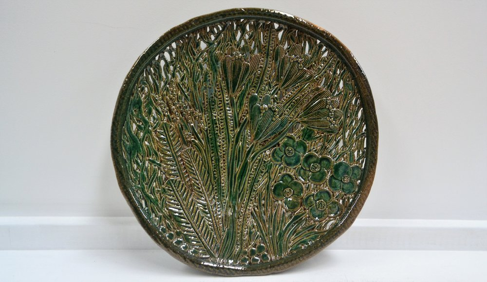Garden Platter  Tom Sommerville, glazed and fired ceramic  $245.00